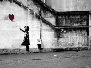 hope - girl with balloon - bansky